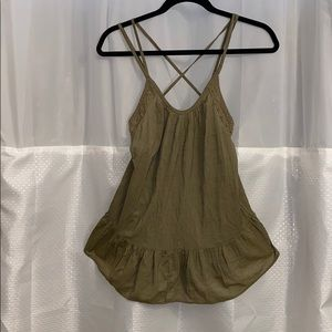 Olive Green Melrose strapless top